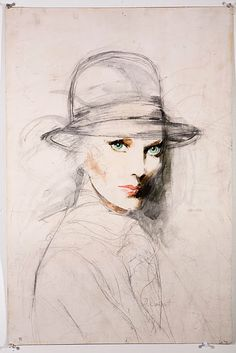 Fashion illustration by Anne Wainscott