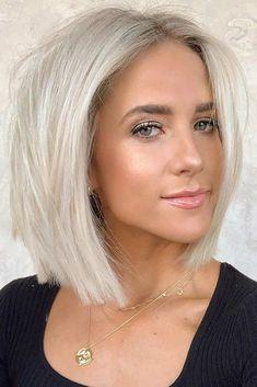 Platinum Blonde Hair Color, Blonde Hair Shades, Honey Blonde Hair, Blonde Hair Looks, Short Platinum Hair, Blonde Hair Over 50, Platnium Blonde Hair, Platinum Bob, Perfect Blonde Hair