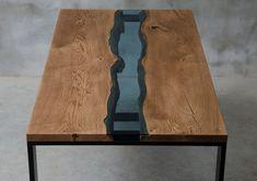 LIVE EDGE Dining Table river table river oak table oak