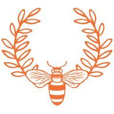 Silhouette Design Store - View Design #140990: honeybee laurel