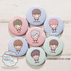 BTS kpop - necesito u / Bangtan niños /BTS pins insignias de botones (juego completo)