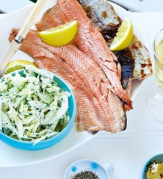 This quick and easy trout recipe can be cooked on the barbecue or under the grill. Grilled Trout, Trout Recipes, Delicious Magazine, Fennel, Fish And Seafood, Tasty Dishes, Grilling, Cooking Recipes, Vegetarian