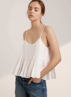 GOLDEN by TNA ABROAD BLOUSE | Aritzia