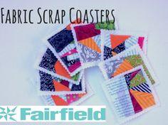 Fabric Scrap Coasters