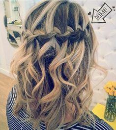 Love this #MaiTai with a waterfall braid by stylist Gabby at Drybar Newport Beach!