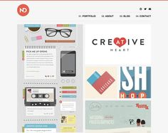 21 Clean Web Design Layouts - Noble Design