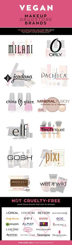 Full list of Vegan makeup drugstore brands and which brands to avoid that test on animals!
