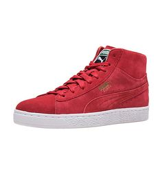 huge selection of 1d257 f2b7f PUMA+Suede+Classic+Mid +Lace+closure+Soft+suede+upper+Padded+tongue+PUMA+form+strip+Rubber+outsole+for+traction