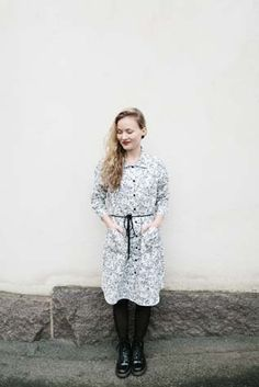 Dress by Nouki.  #finnishdesign #noukidesign #ecological #clothing #dress  www.weecos.com Lace, Winter, Clothing, Inspiration, Tops, Dresses, Design, Women, Style
