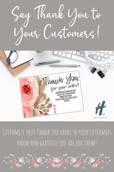 Personalized Thank You Cards for your Business Print Thank You Cards, Business Thank You Cards, Etsy Shop Names, Personalized Thank You Cards, Im Happy, Counting, Cricut, Messages, Tips
