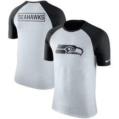 Seattle Seahawks Nike Gridiron Gray Raglan Tri-Blend T-Shirt - Ash