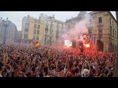 Ascenso del Sporting de Gijón 2015. Celebración en el Ayuntamiento. - YouTube