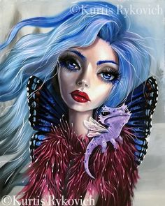 Goth Beauty, Dark Beauty, Beauty Art, Warrior Drawing, Decoupage, Emo Art, Different Kinds Of Art, Lowbrow Art, Pop Surrealism