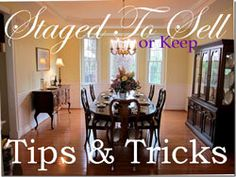 Good ideas for staging a home to sell!