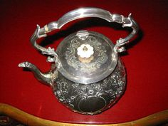 Mappin Brothers England Lion Medallions Silver Plated Tea Kettle – Designer Unique Finds