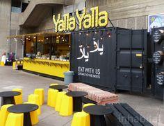 Trend: Pop-up restaurants | Colorful Shipping Container Restaurants Pop Up in Southbank during the London Design Festival