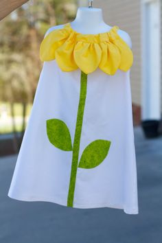 Sunflower Pillow Case Dress....Cant wait til I have a girl would be a cute dress to make for her!