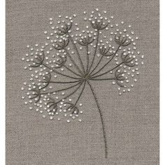 Jo Butcher, Embroidery Artist - Cow Parsley Kit