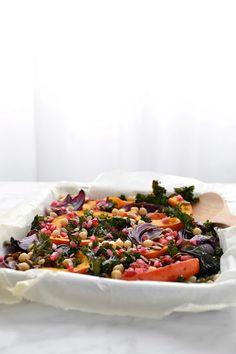 Kale potimarron oignon Chou Kale, Vinaigrette, Camembert Cheese, Dairy, Simple, Comme, Food, Grilled Squash, Red Kuri Squash