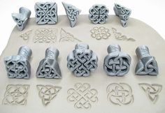 Sada dekoračních razidel do keramické hlíny. Ceramics, pottery. Clay stamps.