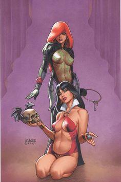 "Dynamite® Dawn/Vampirella #3 (Of 6) Rare Joseph Michael Linsner ""Virgin Art"" Edition Featuring Silver Elite Edition Signature By Joseph Michael Linsner"