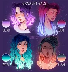 "SCROLL! Gradient Gals, Flower Crowns and Space Glow, Which is your fav THEME from these ""Which is your fav"" posts? I'm taking a short…"