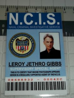 NCIS Leroy Jethro Gibbs ID prop replica ID badge by UncleJacks