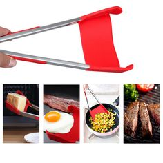 [US$5.99 ~ 7.49] Honana BBQ 2-In-1 Collapsible Kitchen Spatula And BBQ Tong Non-Stick Stainless Steel Frame #honana #2in1 #collapsible #kitchen #spatula #tong #nonstick #stainless #steel #frame