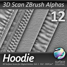Texture psd hoodie alpha zbrush