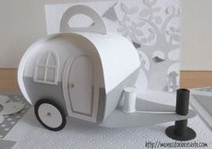736 neuer Wohnwagen zum You are in the right place about gifts for her Here we offer you th 3d Paper Crafts, Diy Paper, Diy And Crafts, Chuck Box, Stampin Up, Diy Gift Box, Exploding Boxes, Pillow Box, Explosion Box