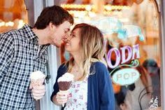 couples pictures at an ice cream shop - Google Search