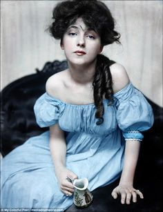 Evelyn Nesbit, who is generally considered to be the world's first supermodel, pictured in 1874