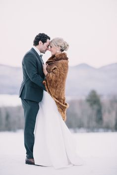 Photography: Julia Wade Photography - julia-wade.com   Read More on SMP: http://www.stylemepretty.com/2016/01/29/winter-mountain-top-inn-wedding/