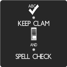 "Rikki KnightTM Keep Clam and Spell Check Black Color - Single Toggle Light Switch Cover by Rikki Knight. $13.99. The Keep Clam and Spell Check Black Color single toggle light switch cover is made of commercial vibrant quality masonite Hardboard that is cut into 5"" Square with 1'8"" thick material. The Beautiful Art Photo Reproduction is printed directly into the switch plate and not decoupaged which make these Light Switch Plates suitable for use in any room in th..."