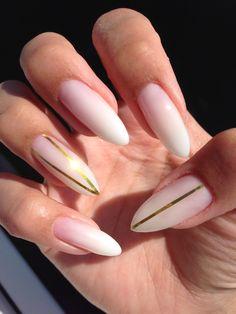 White ombré nails