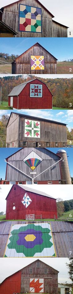 """Ohio quilt barns"" I love old barns and with the painting of the quilts on them they are fabulous!"