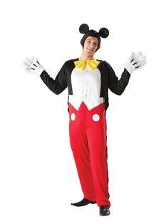 Adult Disney Mickey Mouse Fancy Dress Costume