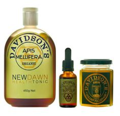 Health Food Collection: New Dawn Health Tonic, Propolis and Pollenaze, all natural and organic. $51.95 NZD