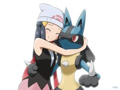 Is it just me..? Or does lucario always act wide eyed and surprised when he is ever hugged?
