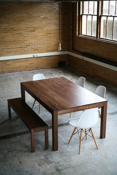 Parsons Dining Table Solid Walnut by hedgehouse on Etsy, $1225.00