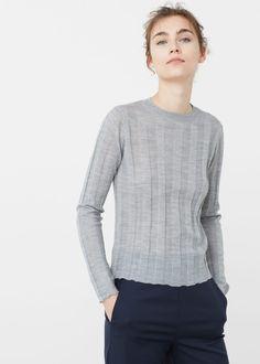 Camisola lã canelada | MANGO