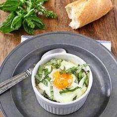 Baby Kale & Artichoke Baked Eggs