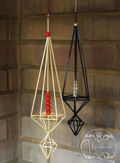 Straw Decorations, Christmas Decorations, Hobbies And Crafts, Diy And Crafts, Straw Crafts, Christmas Crafts, Christmas Tree, Mobiles, Diy Projects To Try