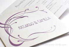 Vintage Art nouveau-style wedding invitation  Partecipazioni matrimonio in stile vintage sui toni lavanda e grigio Jugendstildekor für eine Einladung im Vintage-Stil in Lavender- und Grautönen www.emoveo-cards.com