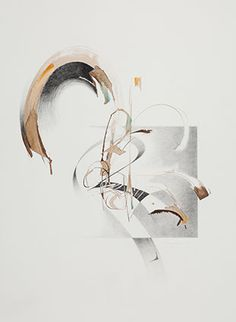Louise Grunewald, Ascending. Walnut and sumi inks, graphite, watercolour.