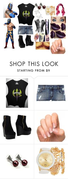 """""""A hardy and the Masked Man(Sin Cara(Hunico) Love Story)"""" by anaeve ❤ liked on Polyvore featuring Pierre Balmain, Paru Milano, MAC Cosmetics, Incoco and Amorium"""