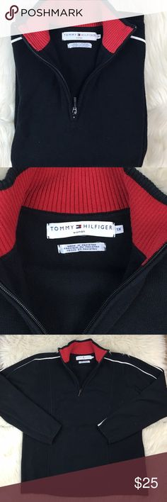Woman's Tommy Hilfiger half zip pullover sweater Great condition no flaws, sz 1X Tommy Hilfiger Sweaters