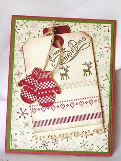 images christmas mittens handmade cards - Google Search
