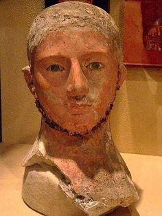 Terracotta sculpture of an Etruscan man, Roman Period 1st century BCE University of Pennsylvania Museum