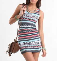 Kirra tribal body con dress - Pac Sun